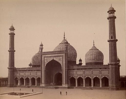 Albumen print ca 1870-1880o fa Mosque