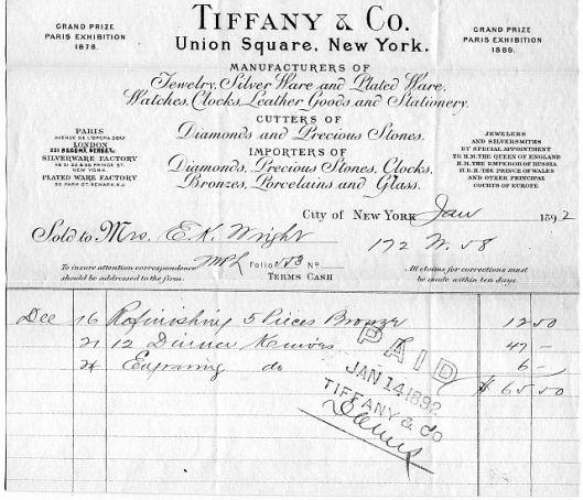 tiffany invoice