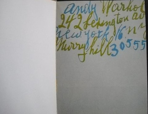 warhol opening page