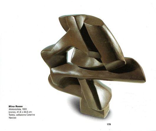 sculpture mino rosso motociclista bronze 1931