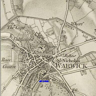 warwick ordnance map 1834