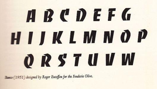 France 1951 Banco typeface design Roger Excoffon